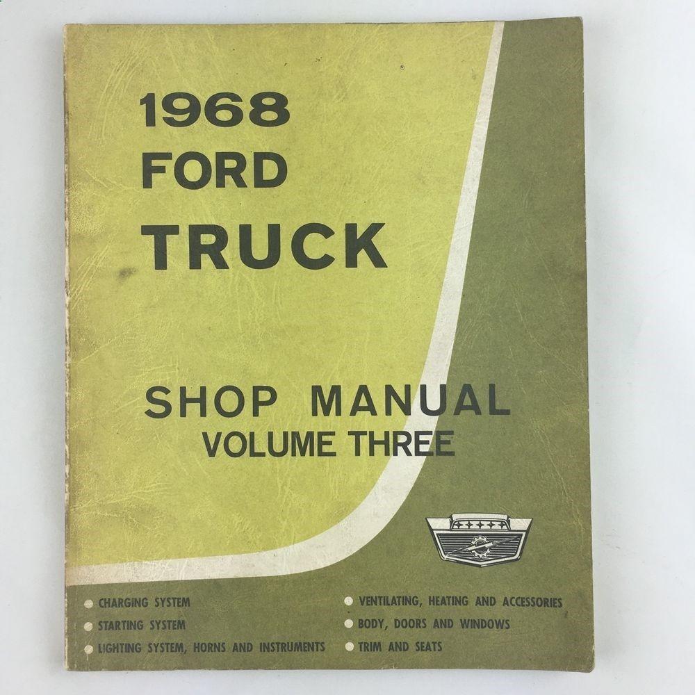 1968 ford motor company truck shop manual vol 3 service publication 1968 ford motor company truck shop manual vol 3 service publication 1st printing ebay fandeluxe Images