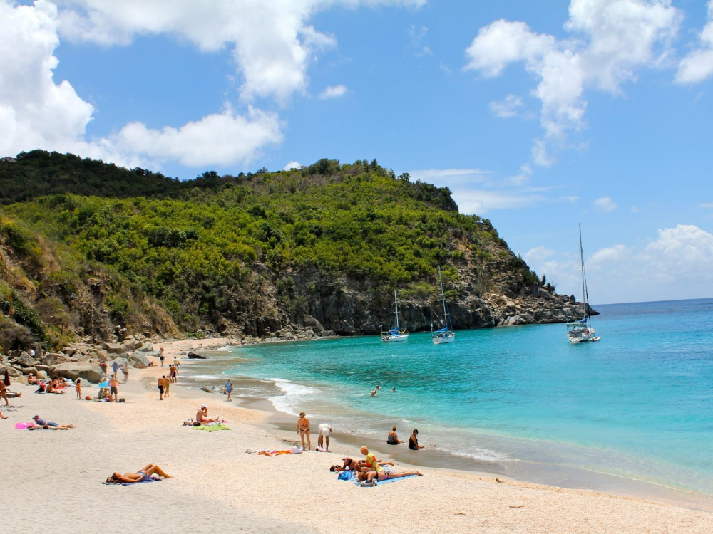 St. Barths between Flamands and Colombier beaches.   St
