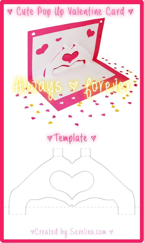 Pin By Lynn Sinnesael On Crafts Pop Up Card Templates Valentine Card Template Pop Up Valentine Cards