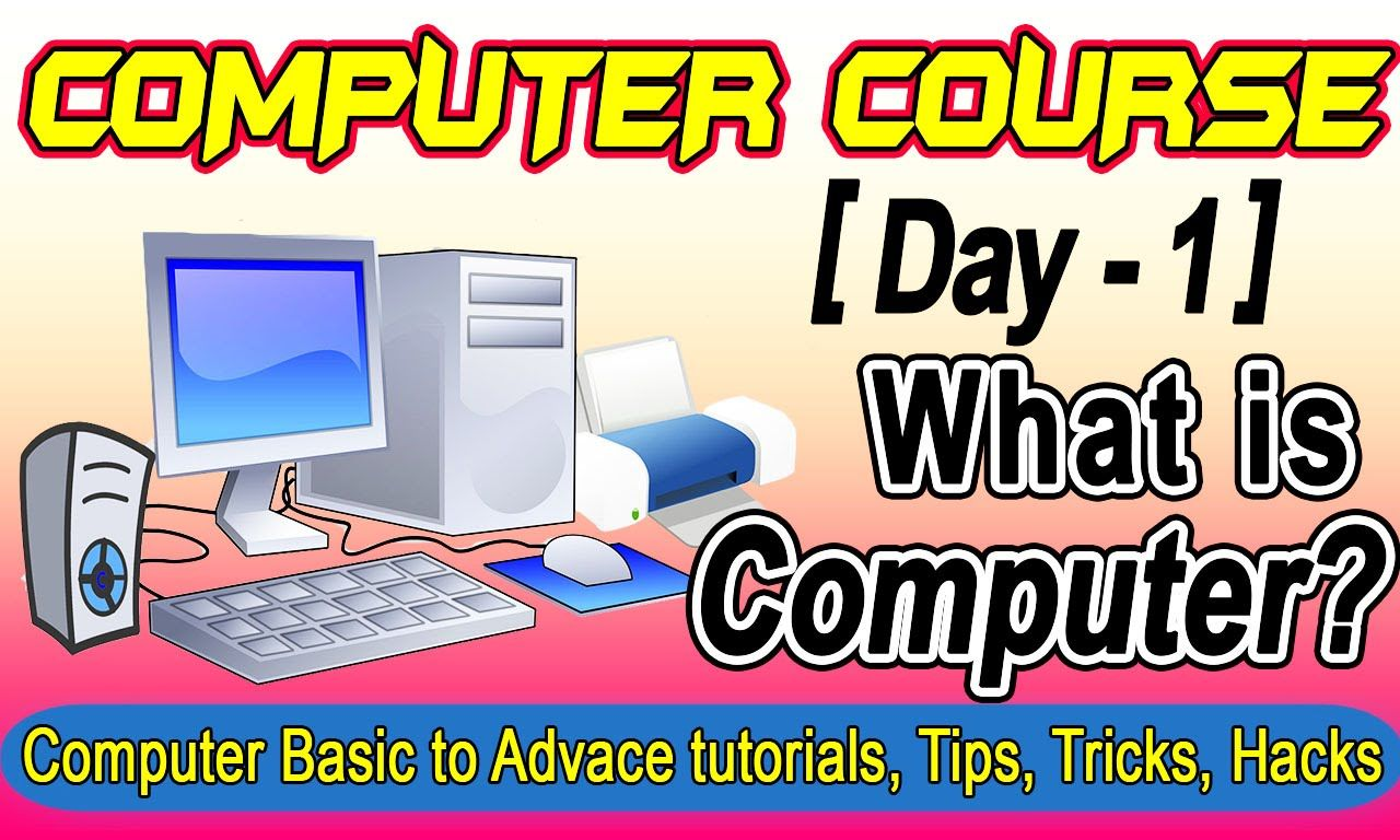 Computer Tutorials For Beginners Course Learn Computer