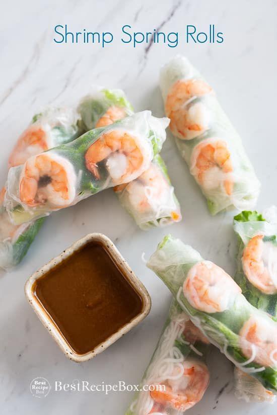 Photo of Shrimp Spring Rolls Recipe, Peanut Dip VIETNAMESE | Best Recipe Box