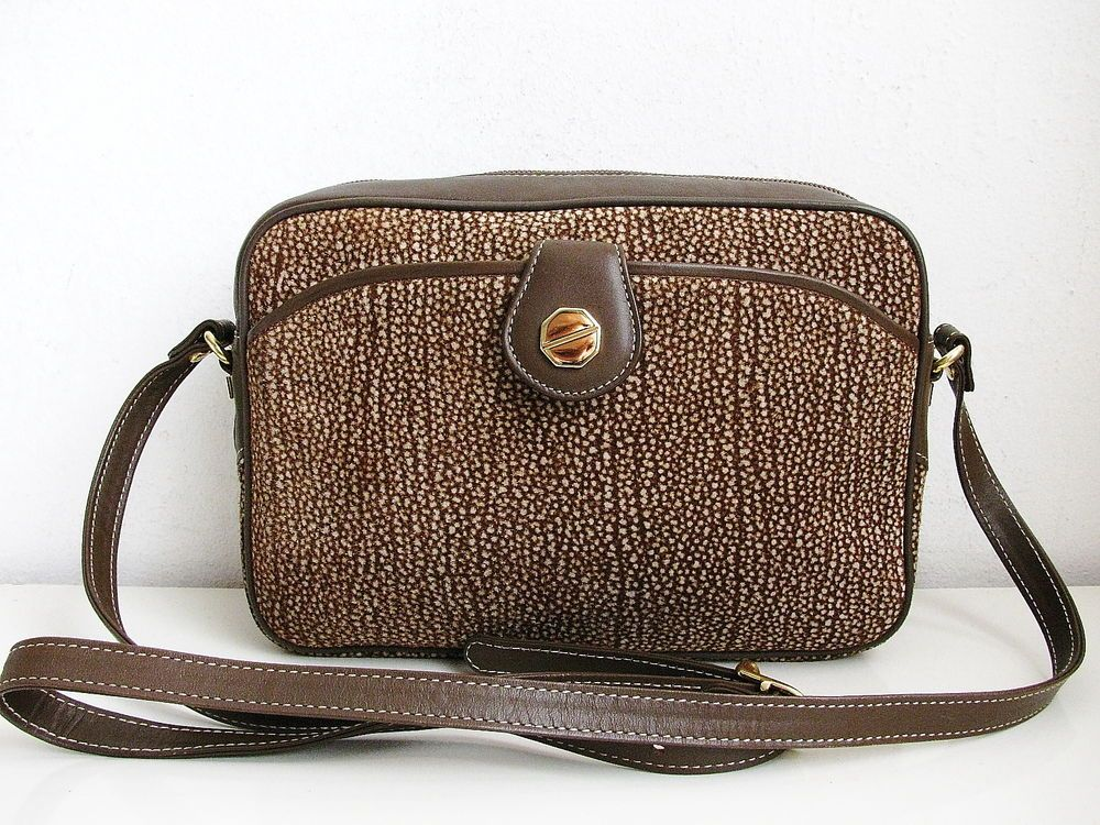 Fontanelli Vintage Suede Leather Handbag Shoulderbag