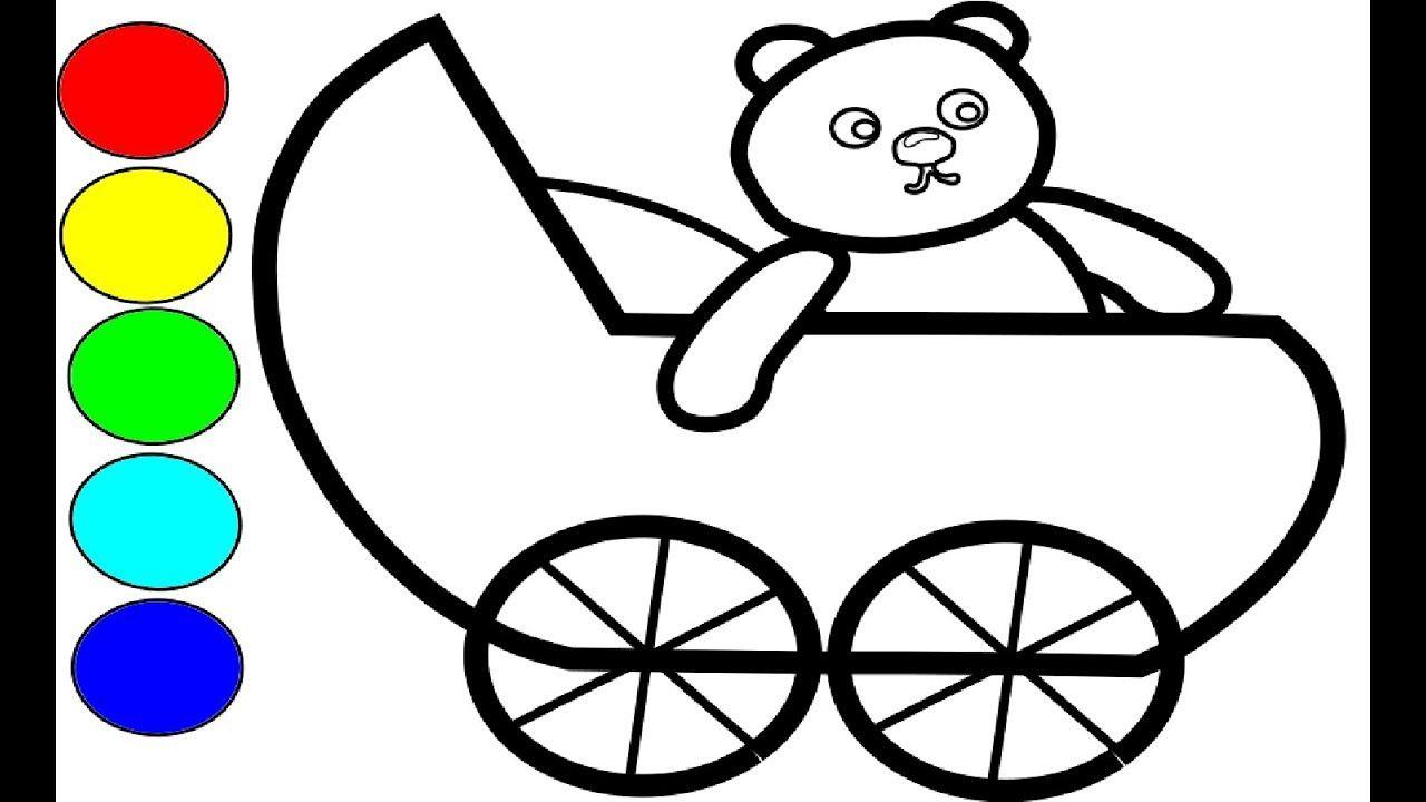 kinderwagen bilder zum ausmalen