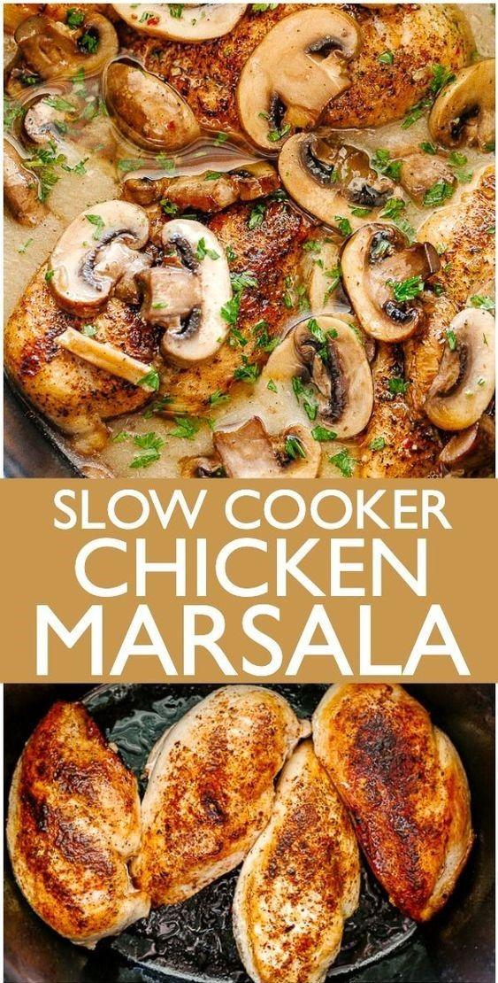Photo of Slow Cooker Chicken Marsala Recipe