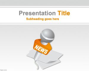 World News Powerpoint Template Is A Free News Template For