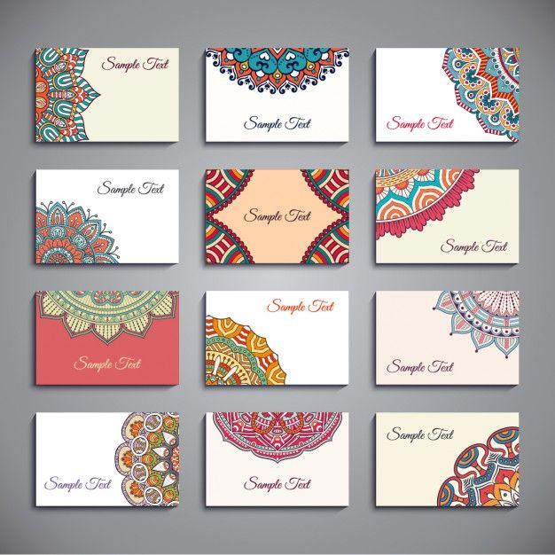 Style Boho Cartes De Visite Collection
