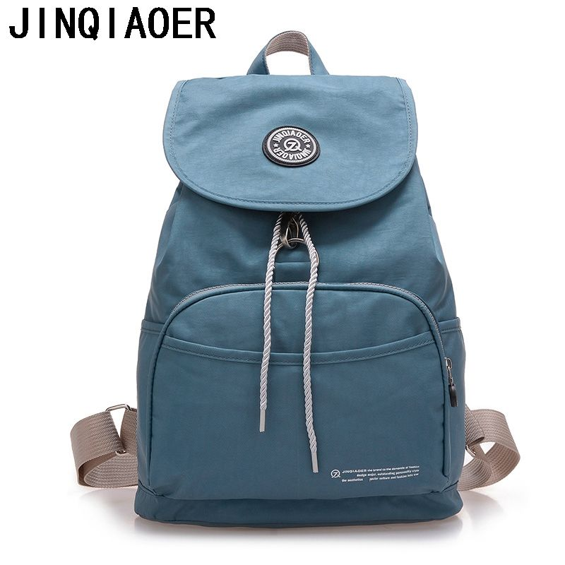 Women Backpack Nylon Lady Women s Printing Teenage Backpacks For Girls Female  Bookbag Casual Travel School Bags 3f033120ee05b