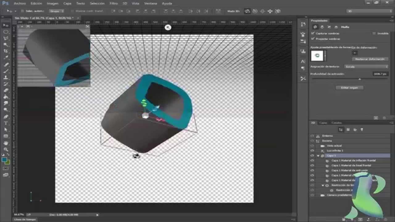 Tutorial como activar la opcion 3d en photoshop cc tutorials tutorial como activar la opcion 3d en photoshop cc baditri Image collections