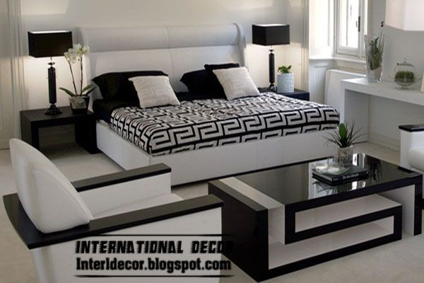 Schwarzweiss schlafzimmer mobel white bedroom design paint furniture and bedrooms also rh pinterest