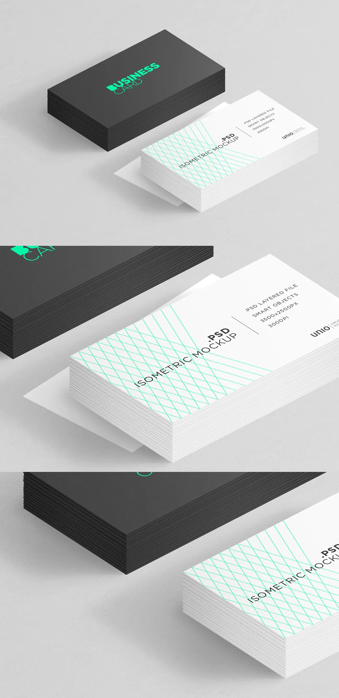 Download Isometric Business Card Mockup By Uniocs On Envato Elements Business Card Mock Up Business Cards Isometric