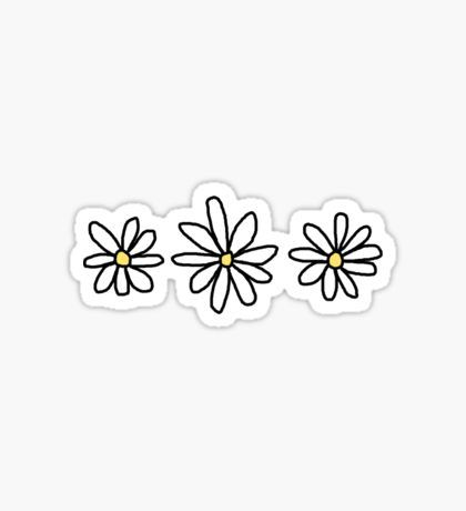 Floral Paw Print Trio by annmariestowe Decals stickers