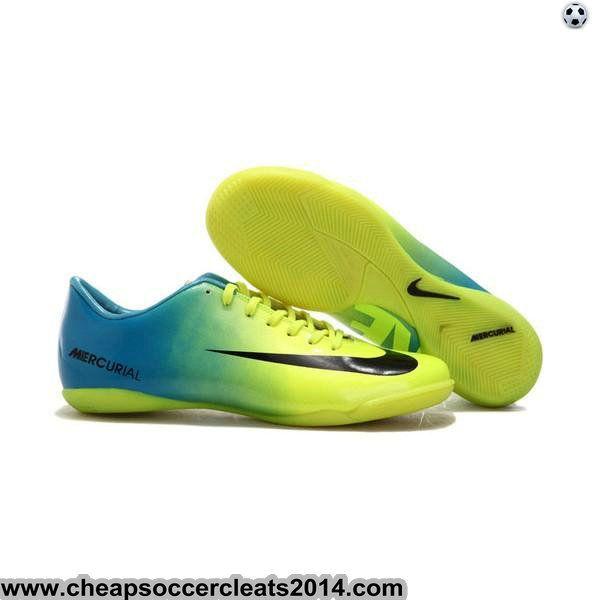 nike mercurial vapor ix ic indoor shoes blue green white cheap soccer cleats