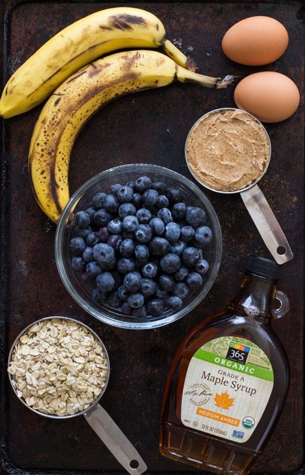 Flourless Blueberry Banana Muffins #fitness #fitnessideas #diet