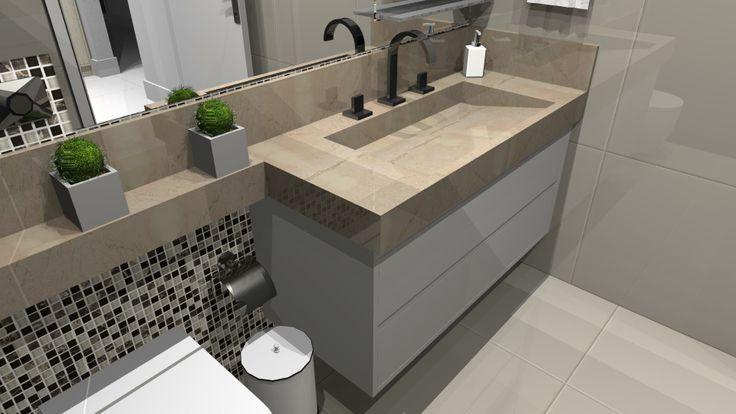pias de banheiro em porcelanato  Pesquisa Google  casa de praia  Pinterest -> Pia Para Banheiro De Porcelanato
