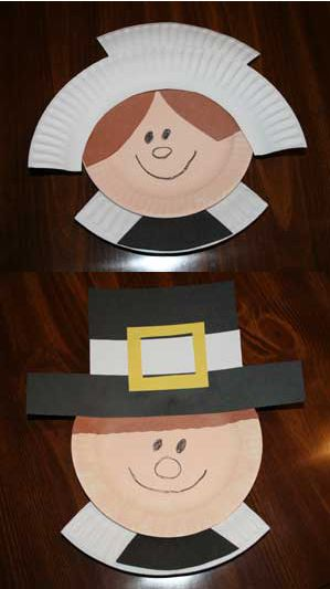 Paper Plate Pilgrims Thanksgiving Crafts For Kids Thanksgiving