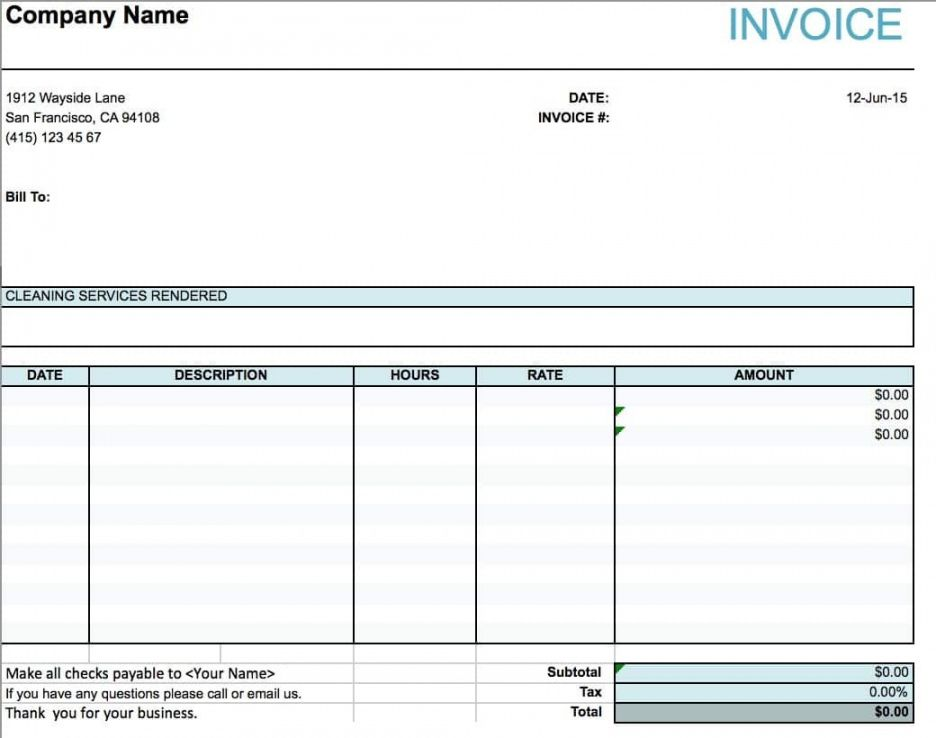 Get Our Printable Cleaning Service Receipt Template Invoice Template Word Invoice Template Microsoft Office Word
