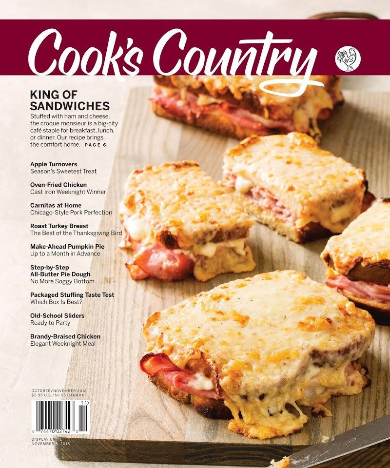 Cook S Country Cover For 10 1 2018 Cooks Country Magazine