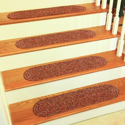 Best August Grove Seline Sangria Stair Tread Stair Tread Rugs 400 x 300