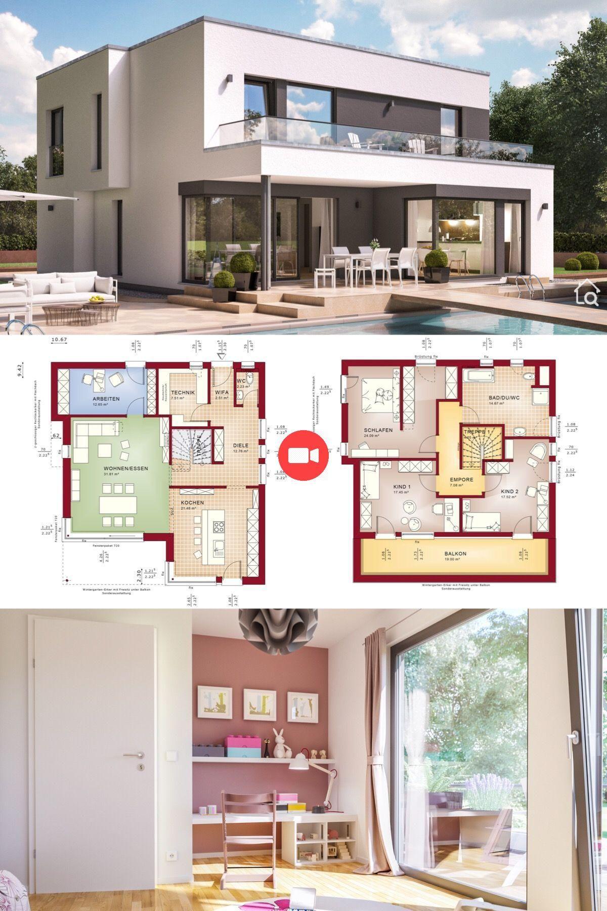 Villa De La Maison Moderne Dans Le Style Bauhaus A Toit Plat D