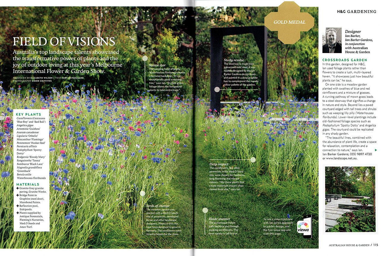 The June 2015 issue of Australian House & Garden magazine features a ...