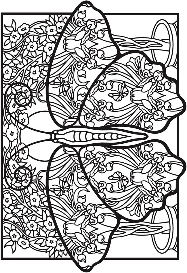 Creative Haven Fantasy Butterflies Coloring Book Welcome to Dover ...