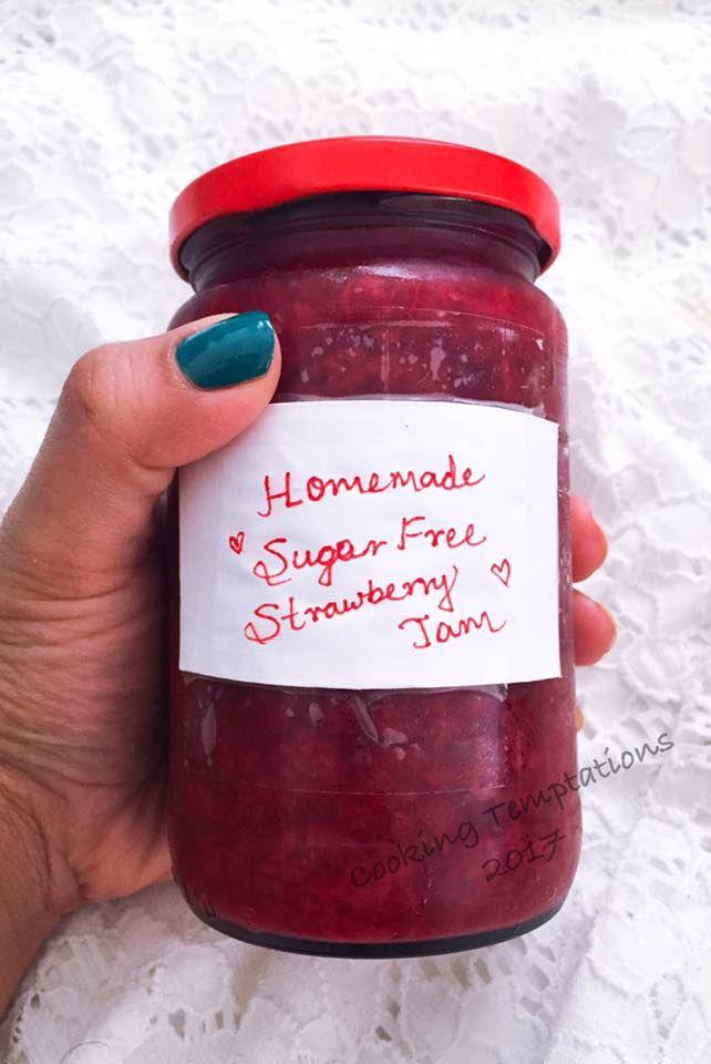 Homemade Sugar Free Strawberry Jam Sugar Free Strawberry Jam Sugar Free Jam Recipes Sugar Free Jelly Recipe