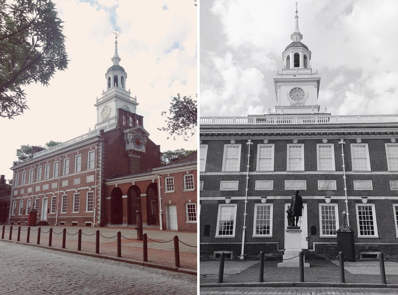 Independence Hall. Philadelphia, Pennsylvania. Birthplace of both the Declaration of Independence and the United States Constitution
