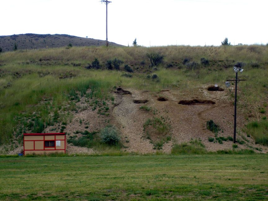 John day fossil bed exposure in fossil oregon john day