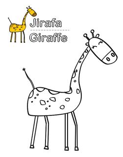 dibujo de jirafa para colorear  Colorear  Pinterest  Animales