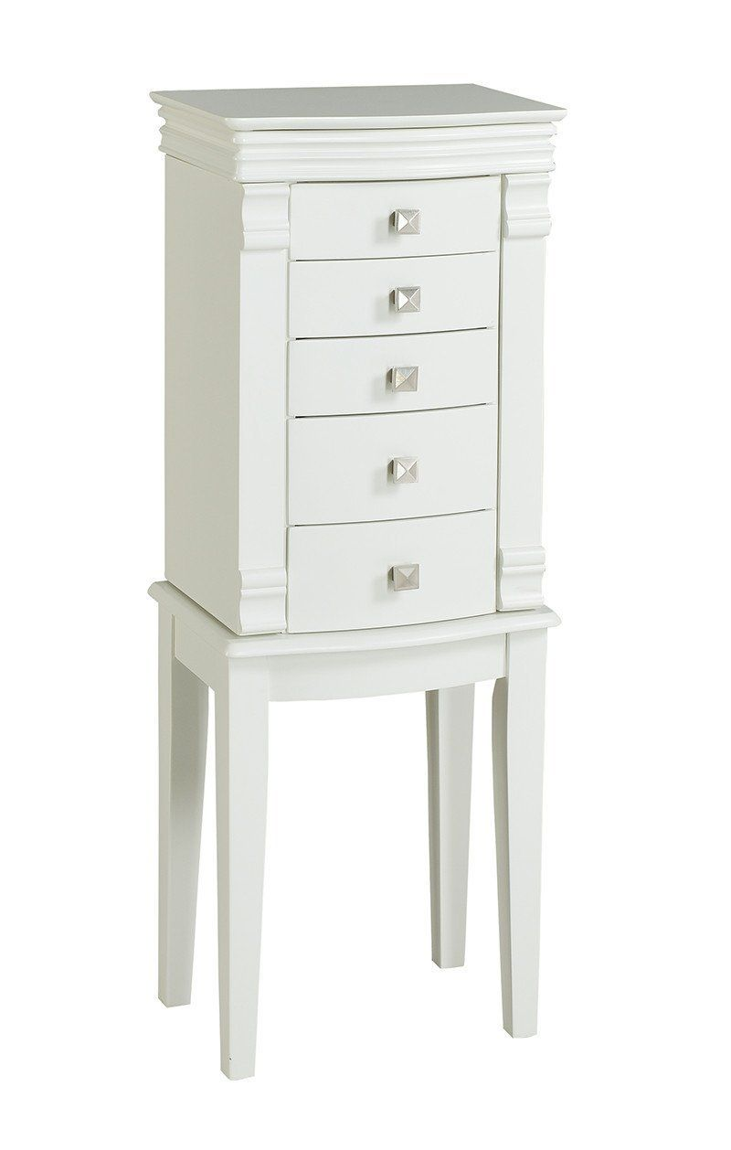 55571wht 01 Kd U Angela White Jewelry Armoire # Muebles Costera