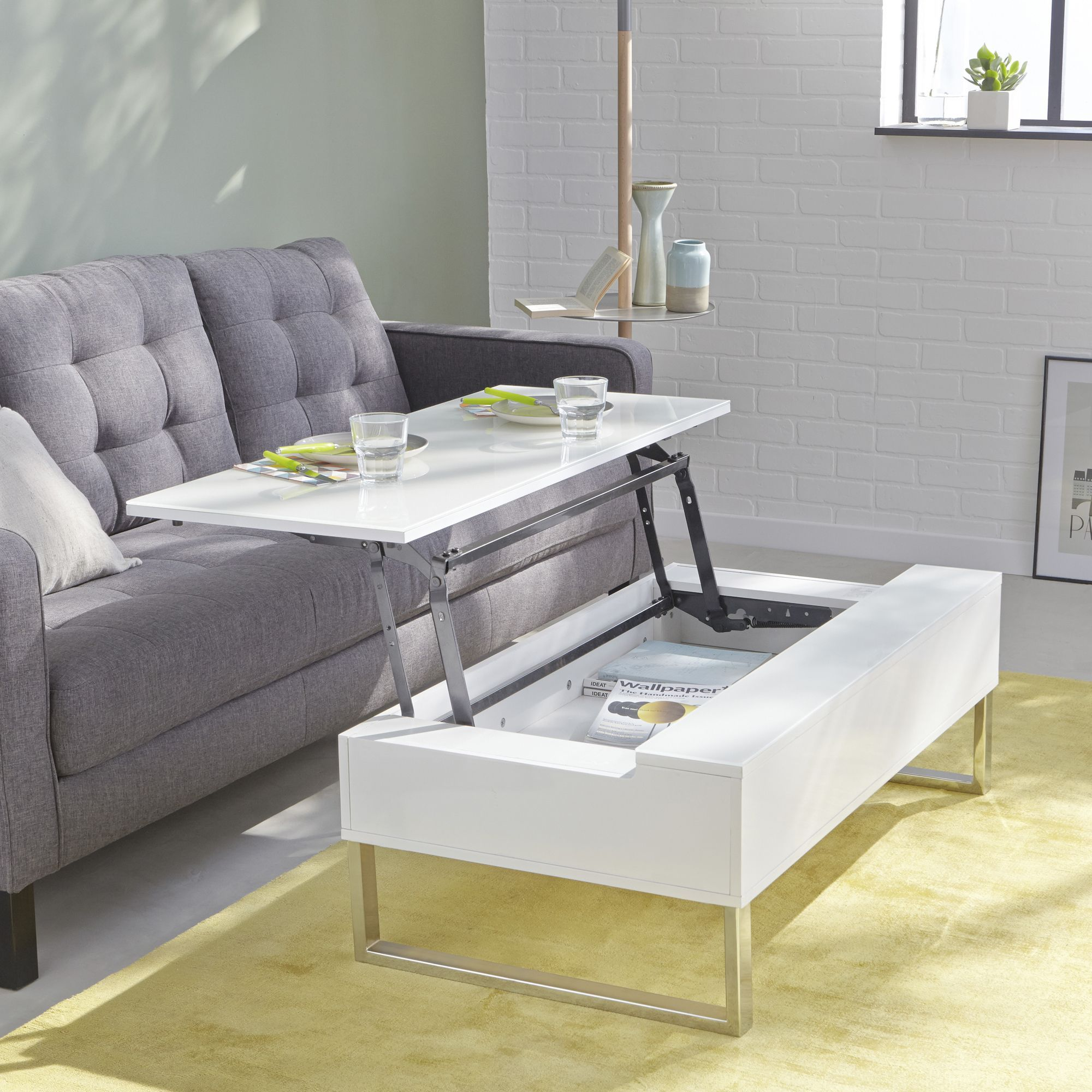 Table Basse Alinea Blanche
