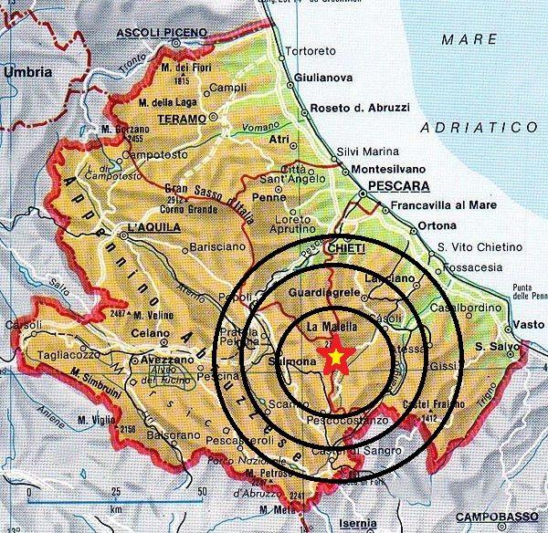 Cartina Geografica Provincia Di Teramo.Abruzzo Terremoto Questa Mattina Magnitudo 2 0 In Provincia Di Chieti Mappa Dell Italia Mappa Monumenti
