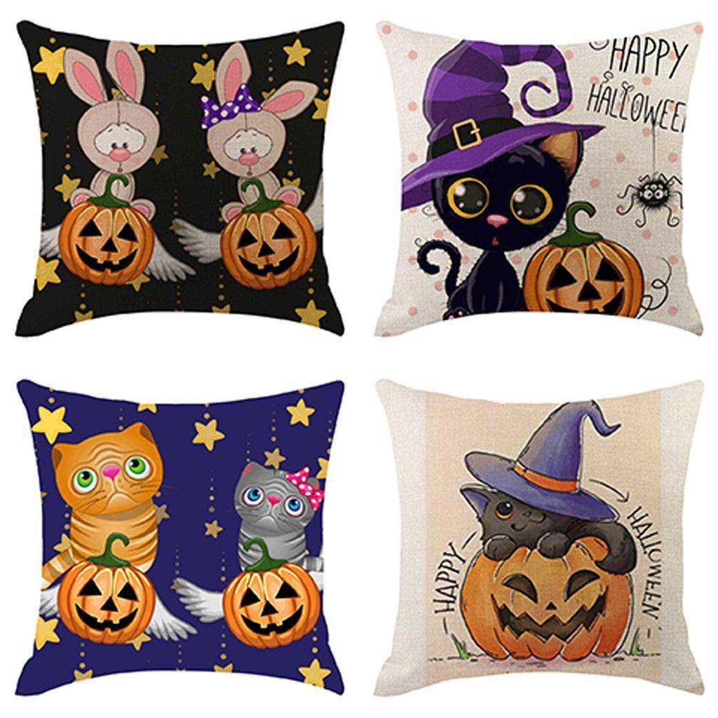 4PCS Halloween Pillow Cover Pillowcases Decorative Sofa Cushion Cover -  4PCS Halloween Pillow Cover Pillowcases Decorative Sofa Cushion Cover  - #4Pcs #cover #cushion #Decorative #Halloween #pillow #pillowcasepackaging #pillowcasetexture #pillowcasewhite #Pillowcases #Sofa