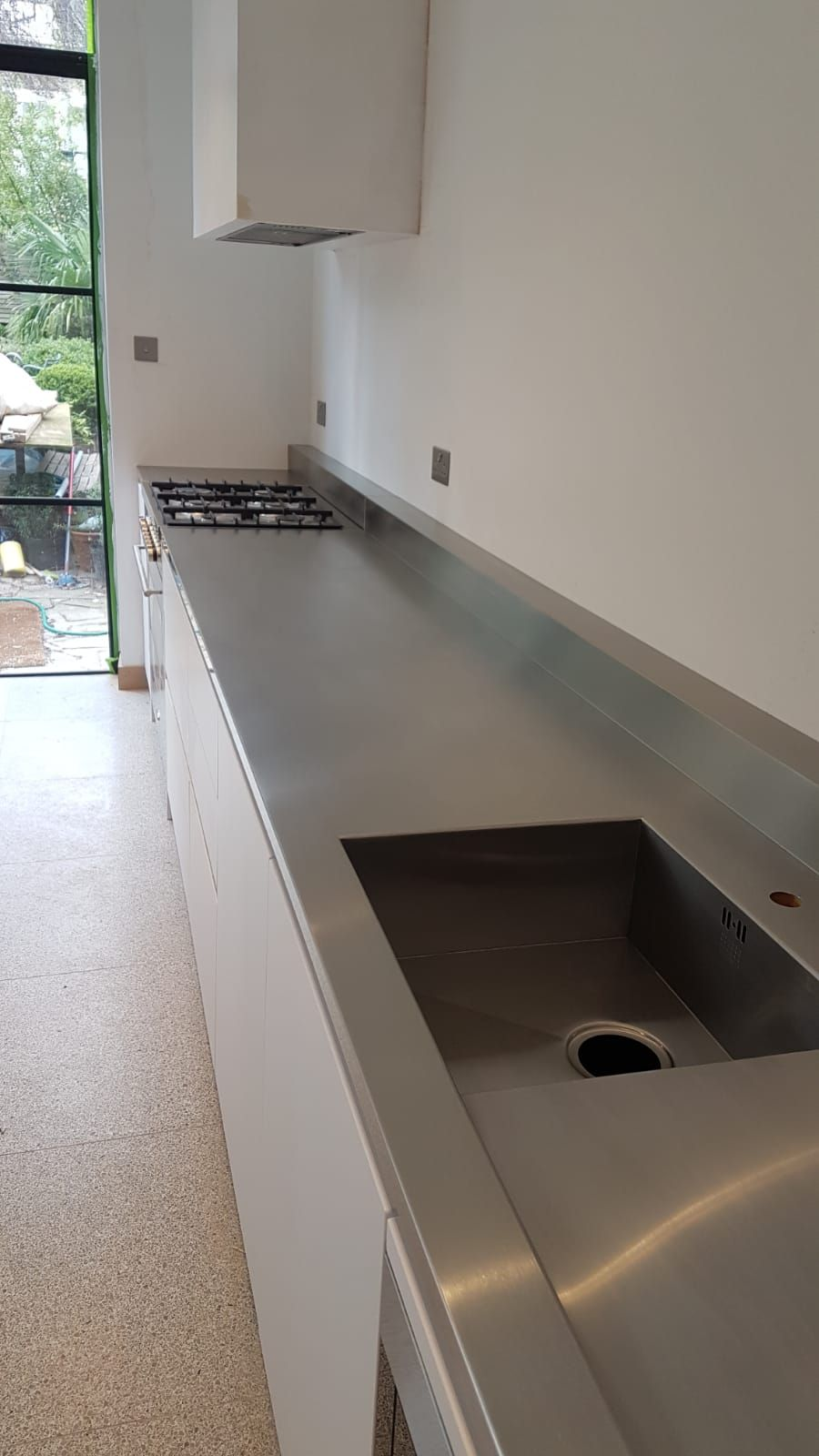 Stainless Steel Satin Brushed Finish Worktops Recently