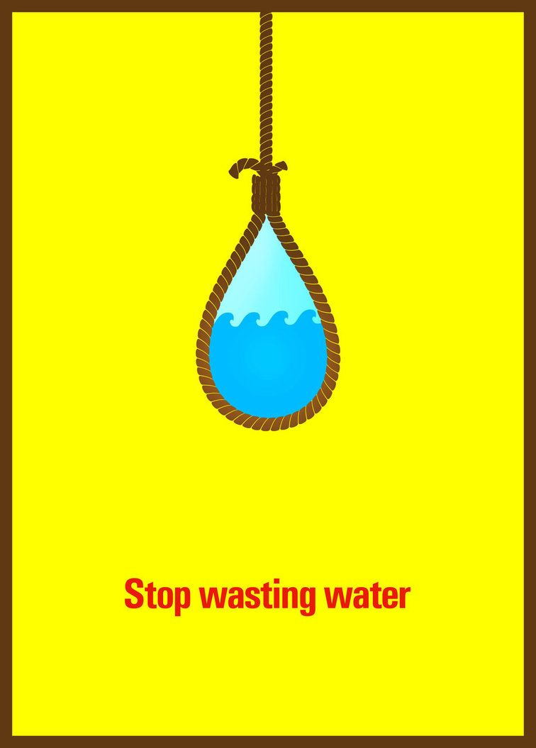 Poster design on save water - A Drop Of Water Is Worth More Than A Sack Of Gold To A Thirsty Man Poster Design