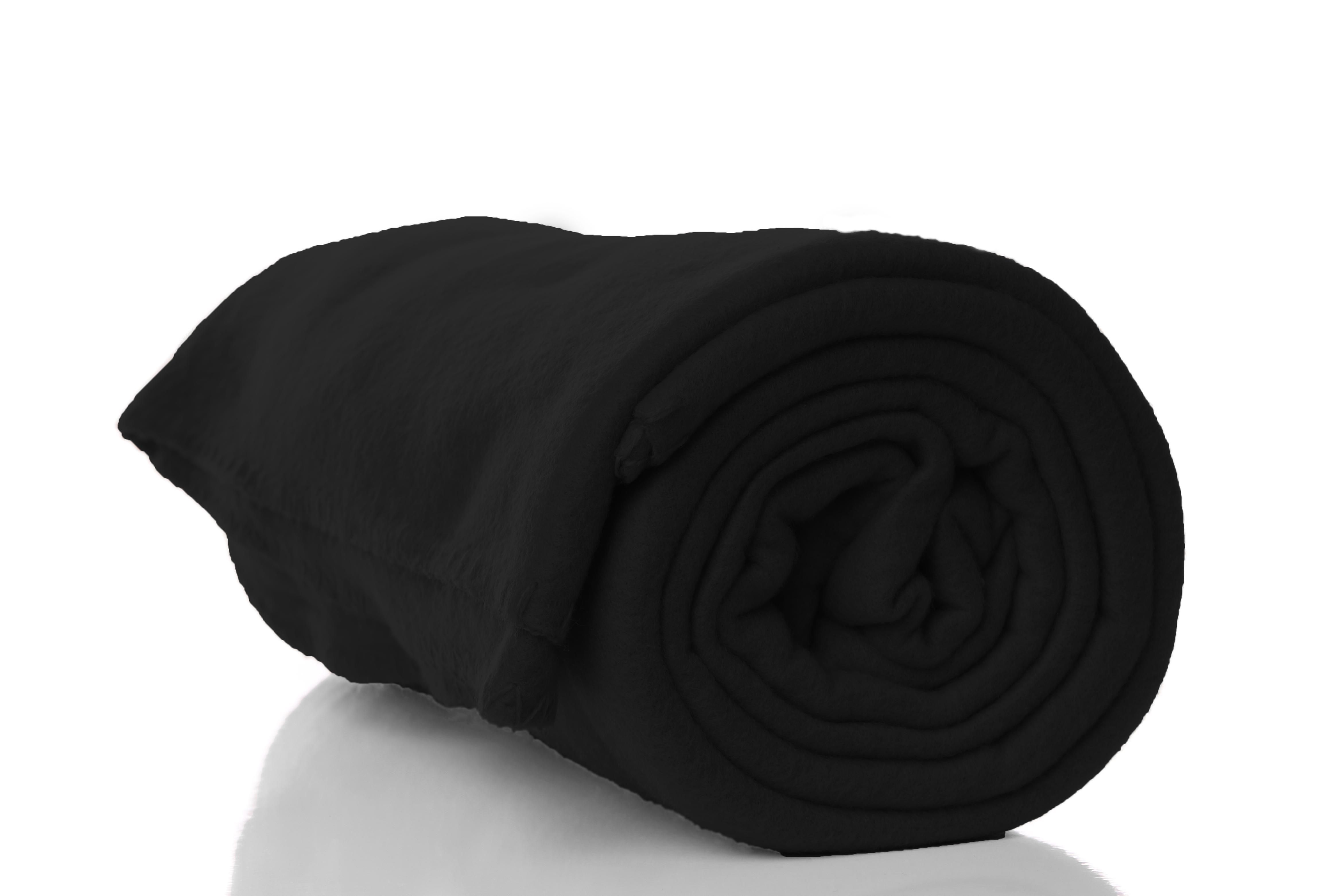 Photo of Black Polar Fleece Blanket