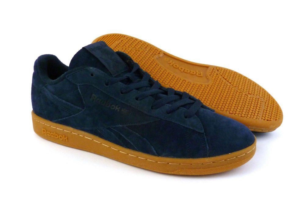 9c36b9160448dc Reebok men s NPC UK GUM casual shoes sneakers kicks Collegiate Navy Blue  Gum NIB  Reebok