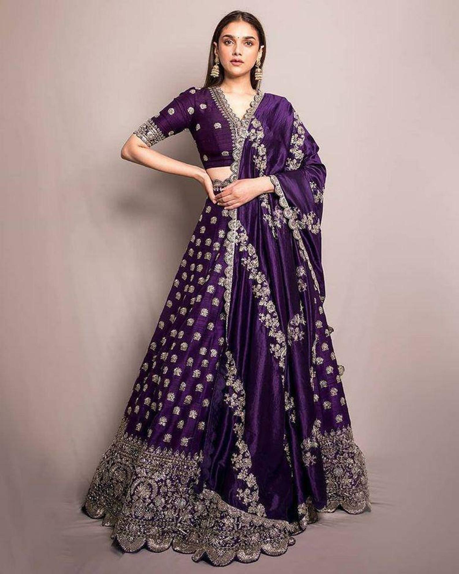 purple lehengas designer lengha sequence lengha chaniya choli party wear indian lehenga wedding wear lehenga for women kid/'s lengha lenga 1