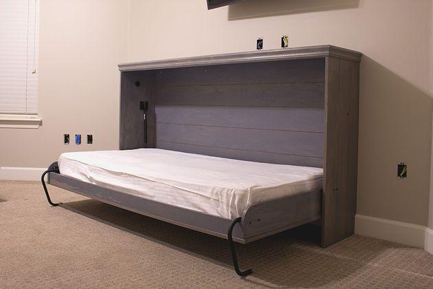 DIY Horizontal Murphy Bed Woodworking Plans Woodbrew