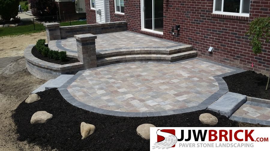 Raised Brick Paver Patio Design Installation Chesterfield Mi Http Jjwbrick