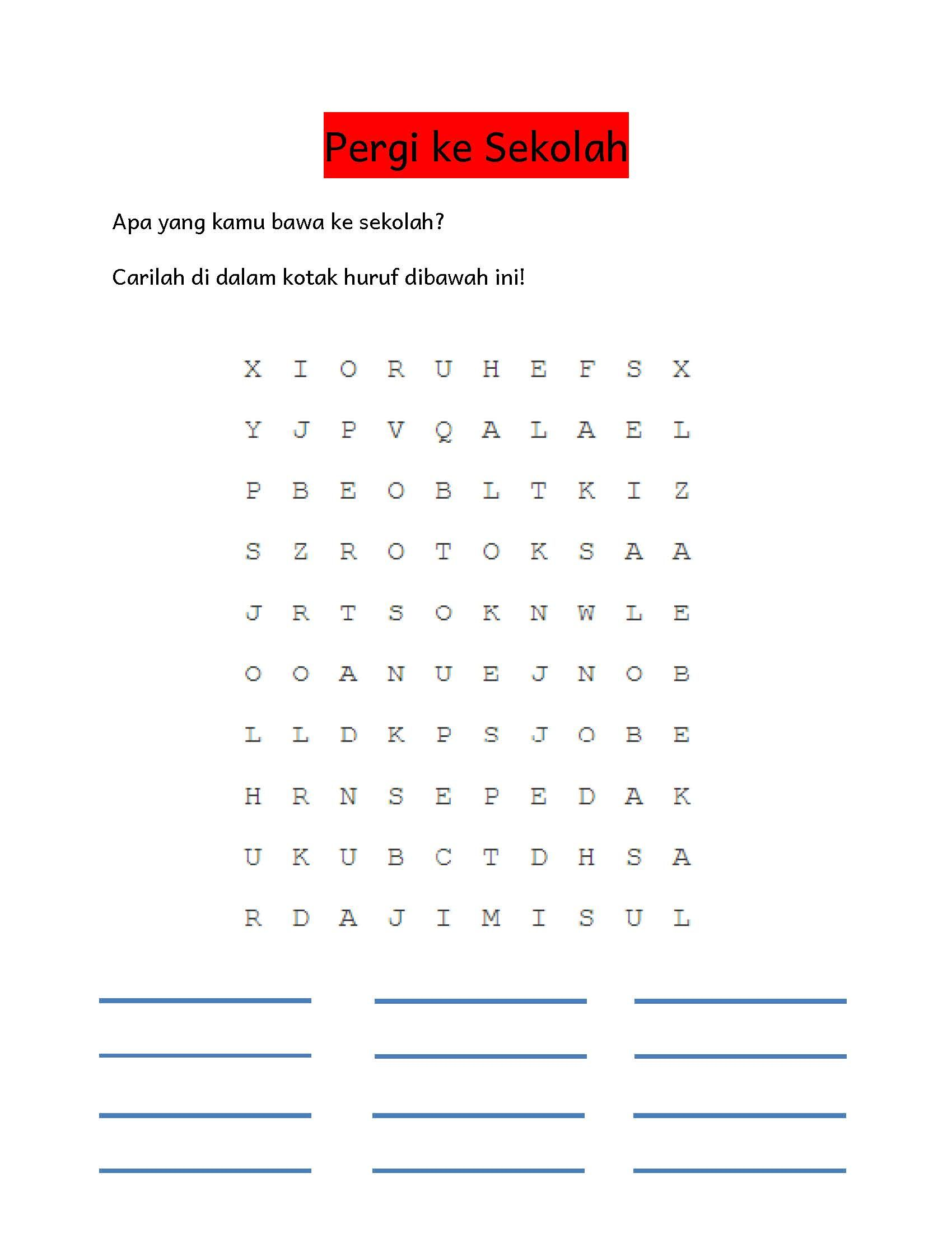 Worksheets Worksheet Bahasa Indonesia Tk Waytoohuman