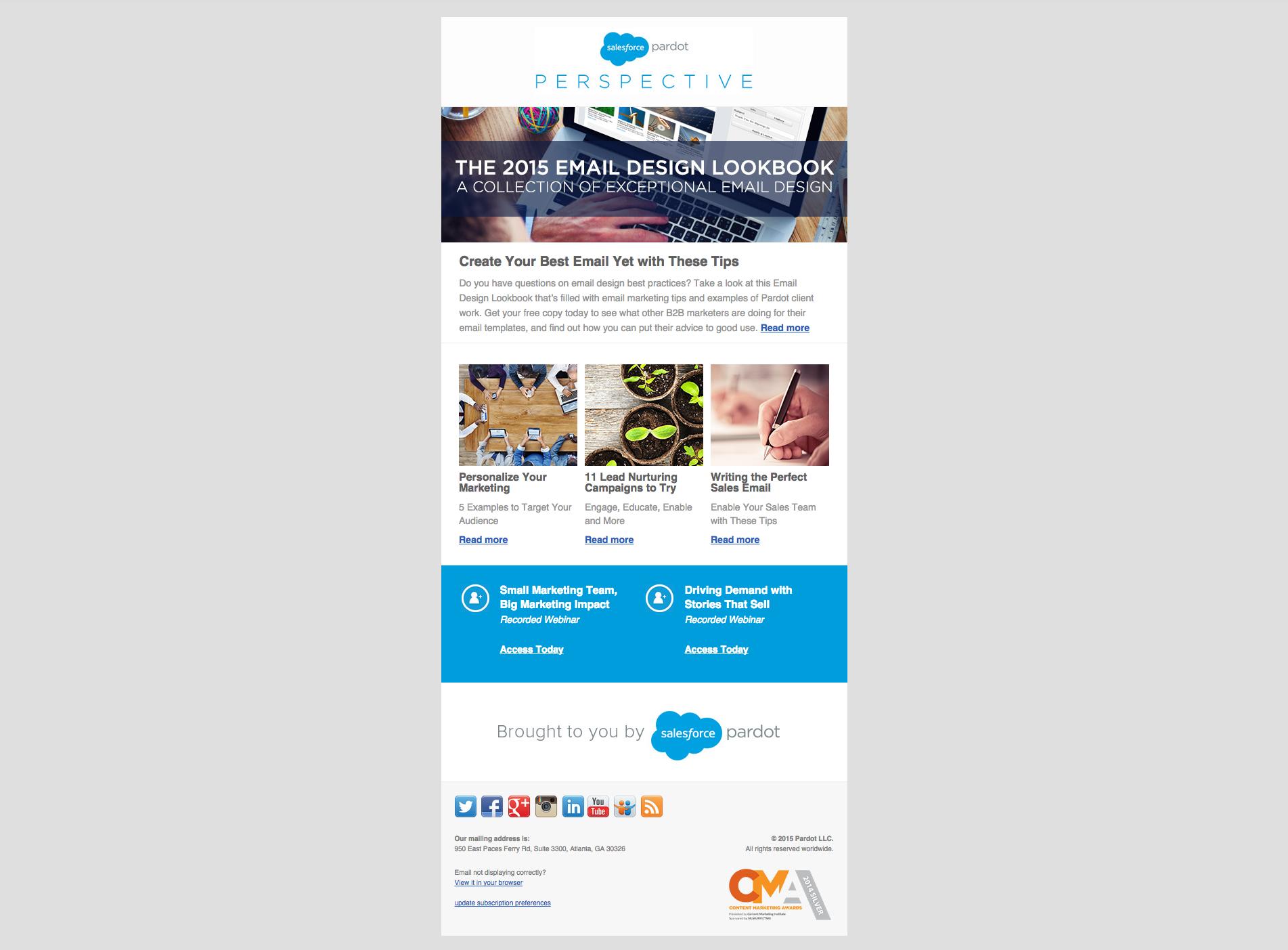 Pardot Newsletter Design  Awesome Header  Layout  Developer