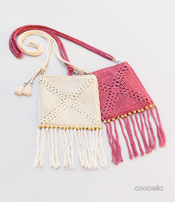 Mini Crochet Shoulder Bag, free pattern by Anabelia Craft Design | 2 ...