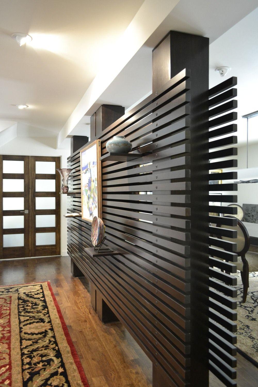 Half Wall Wood Paneling: Open Slatted Half Wall - Google Search