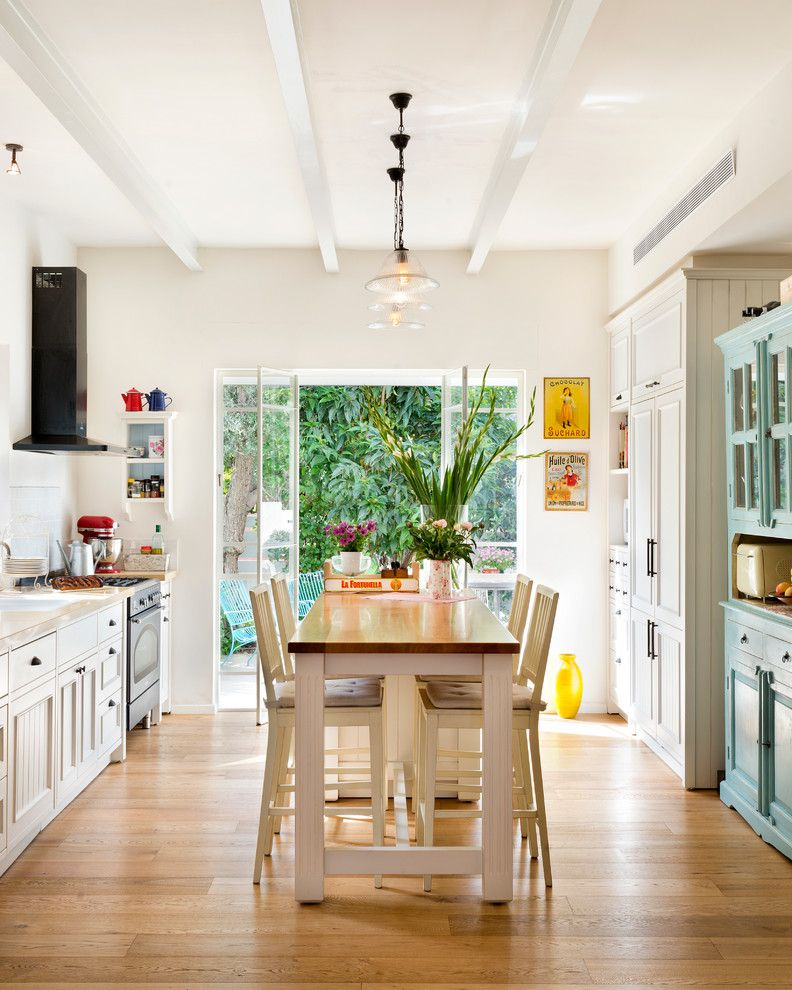 Galley Kitchen With French Doors: Marvelous Outdoor Rabbit Hutch In Kitchen Eclectic With