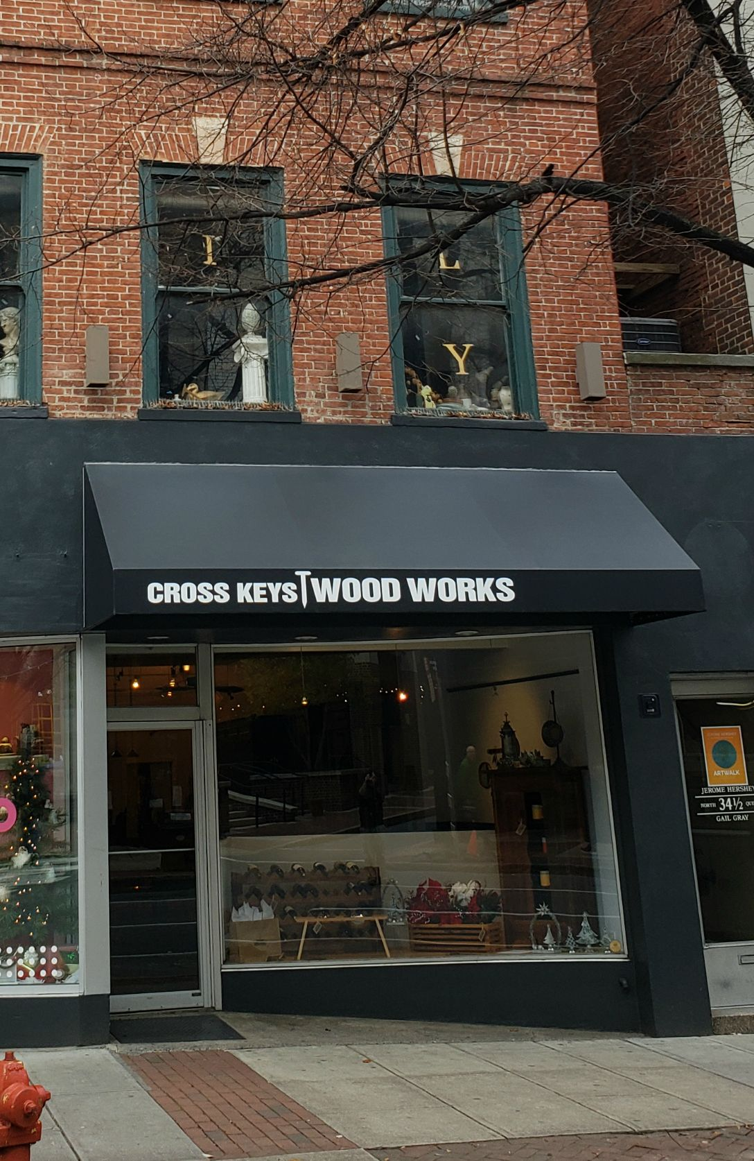 Cross Keys Wood Works Traditional Storefront Awning Kreider S Canvas Service Inc Store Fronts Crossed Key Awning