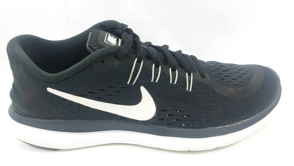 Details About Nike Flex 2017 Run Athletic Running Shoes Sneakers Black White Womens 8 5 In 2020 Running Shoes Sneakers Nike Flex Running Shoes