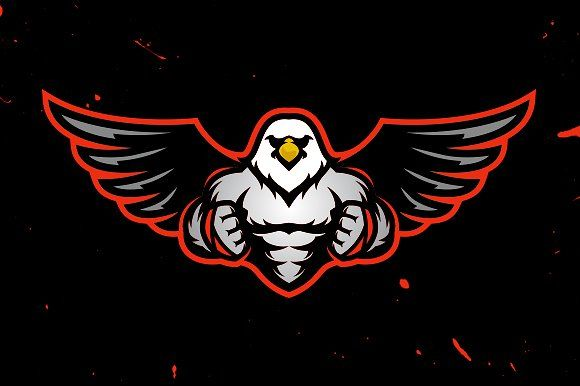 Muscular Eagle Logo Template Eagle Logo Game Logo Design Logo Templates