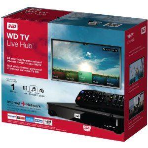 Western Digital 1 TB WD TV Live Hub Media Center, Full-HD 1080p - AVI, Xvid, MKV, MOV, FLV, VOB, MP3, WAV, MP4, MPEG, WMV9