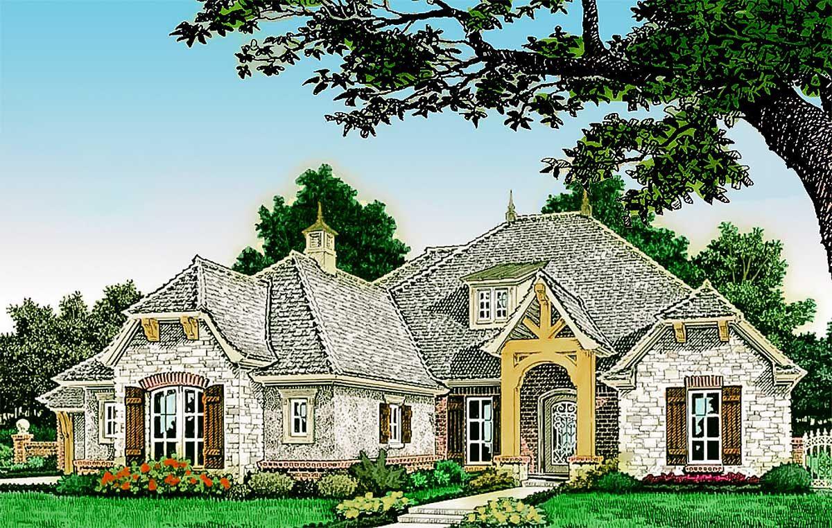 Plan 48550fm Old World European Home European House European House Plans European Style Homes